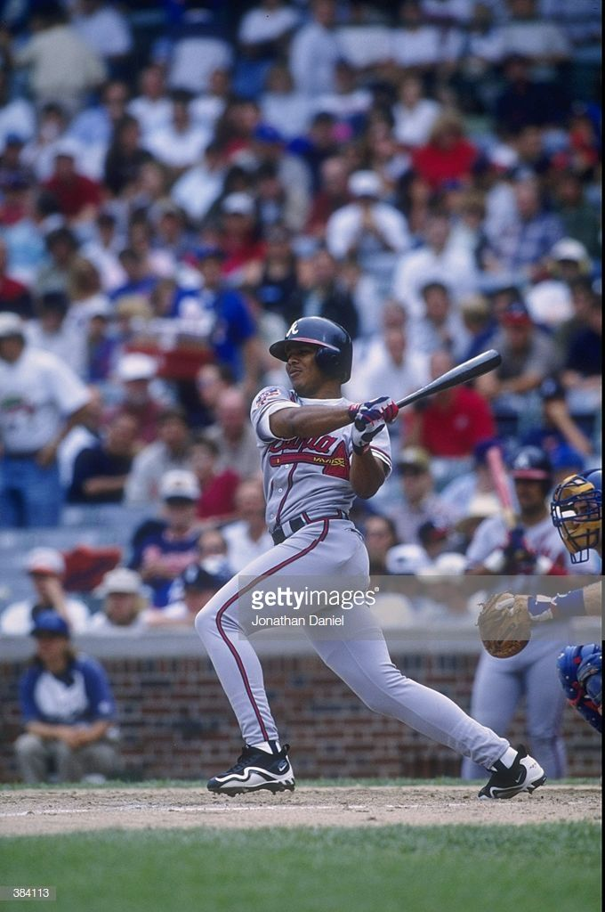 Outfielder Andruw Jones Of The Atlanta Braves In Action During A Game Atlanta Braves Braves The Outfield