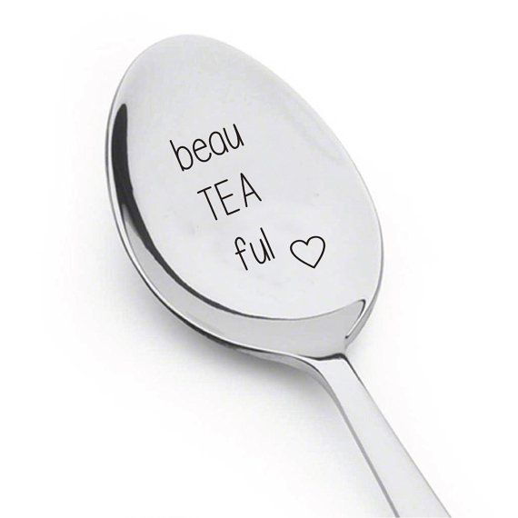 Cute Gift Personalized Spoon Saying Beau Tea Ful For Wife