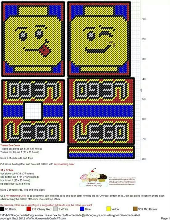 Lego Heads-Tongue, Wink TBC