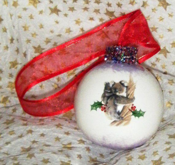 Personalised Australiana Christmas BaubleTree by romanticflair