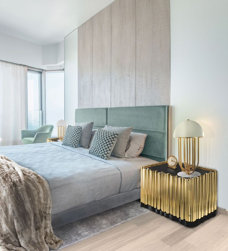 Boca do Lobo | Made from wood finished covered by a tubular structure in gold plated brass. Interior contains one shelv and a drawer. | For more inspirations visit: www.bedroomideas.eu | #bedroomcolors #bedroomdecoration #bedroom designideas