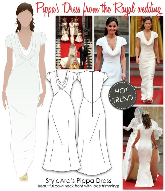 28 best sewing patterns for knit fabrics images on for Cowl neck wedding dress pattern