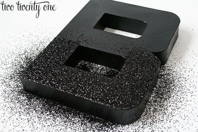 DIY Glitter Letters {Mod Podge} - Two Twenty One
