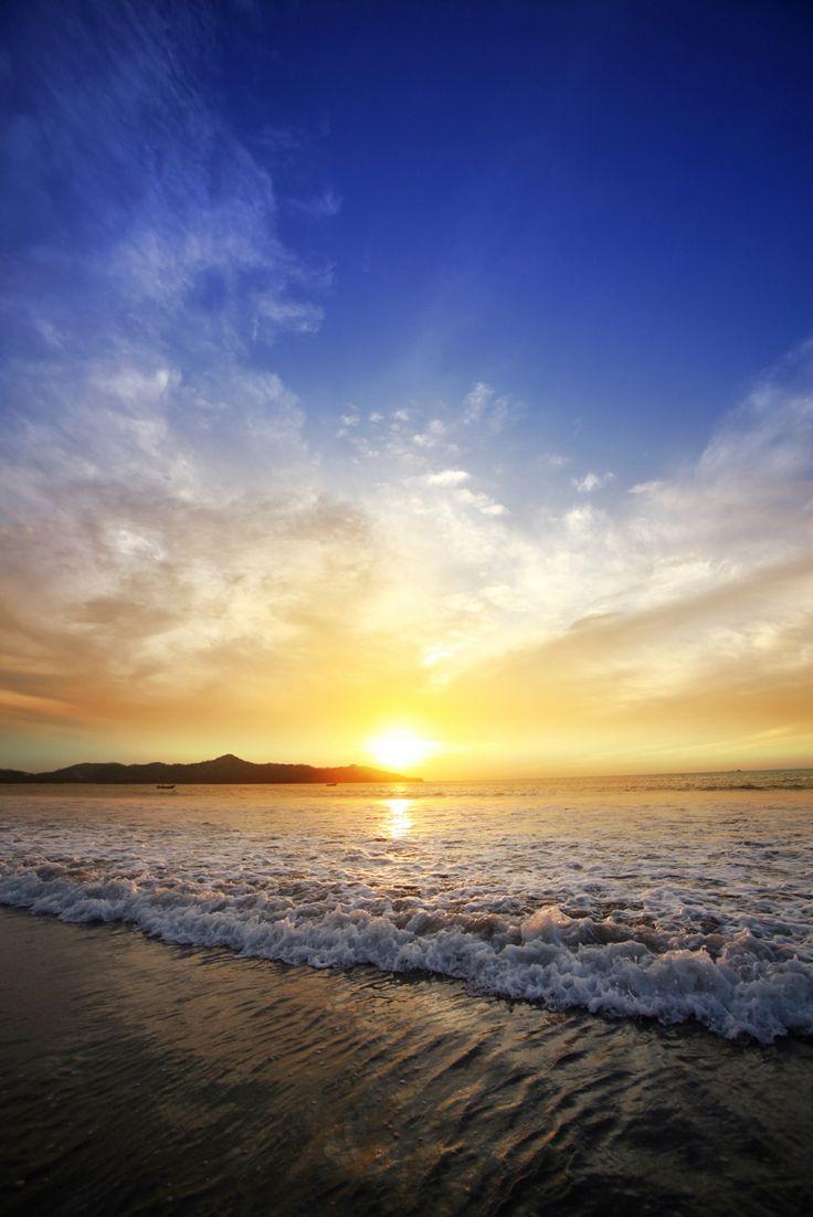 Beautiful sunset in Costa Rica
