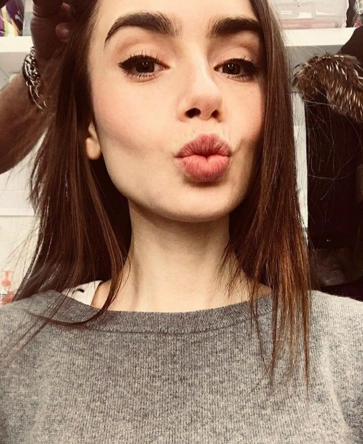 1416 best lily collins hair and make up images on Pinterest
