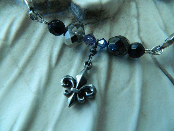 Assemblage Bracelet Layering Stretch Fleur de Lis by 58Diamond