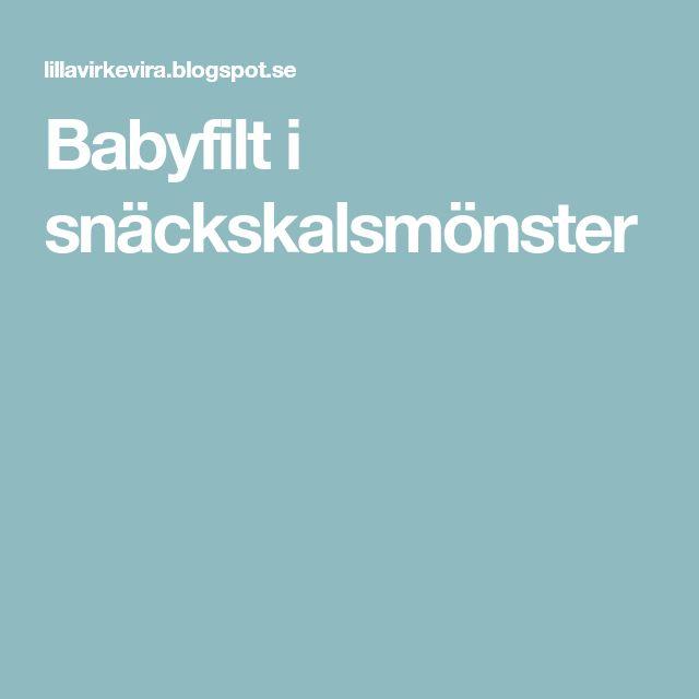 Babyfilt i snäckskalsmönster