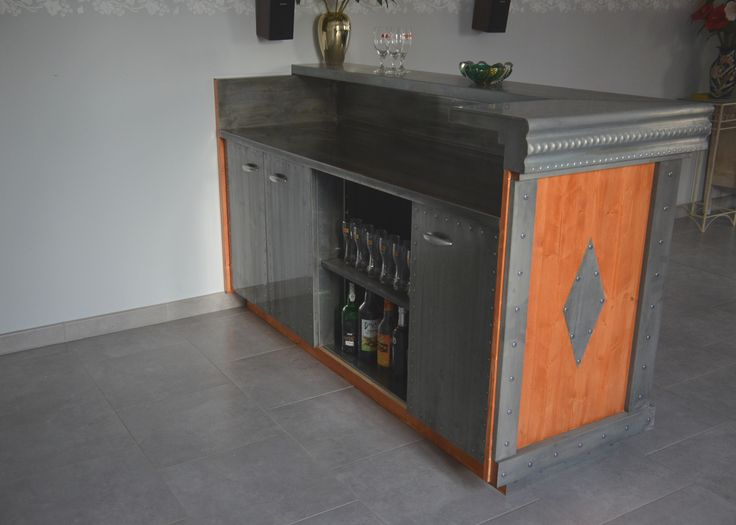 Finest Meuble Bar En Zinc Comptoir De Bar En Zinc Comptoir