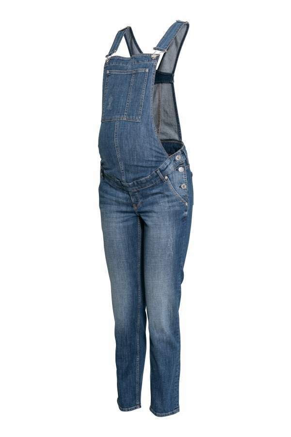 $59.99 | I love the pregnant and overalls look! | H&M MAMA Denim Bib Overalls | maternity fashion | maternity style | maternity clothes | maternity outfit | maternity wardrobe | maternity overalls | pregnancy | bump | #ad
