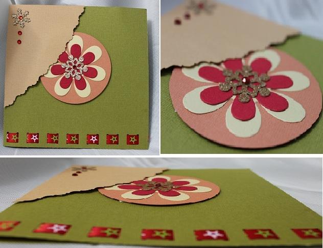snowflake handmade card