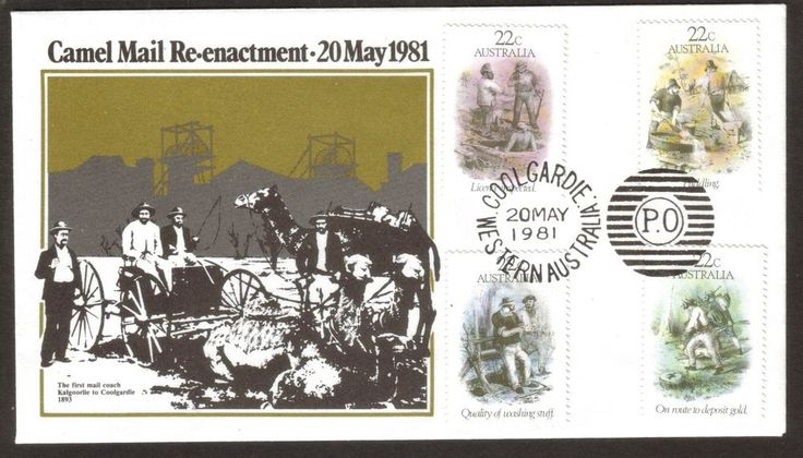 1981 Souvenir Cover Camel Mail Re-enactment Cancelled Coolgardie WA 20 May 1981 in Stamps, Australia, By Type   eBay!