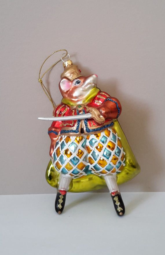 Rare. Large Rat king Christmas Ornament. by ellabellascollection