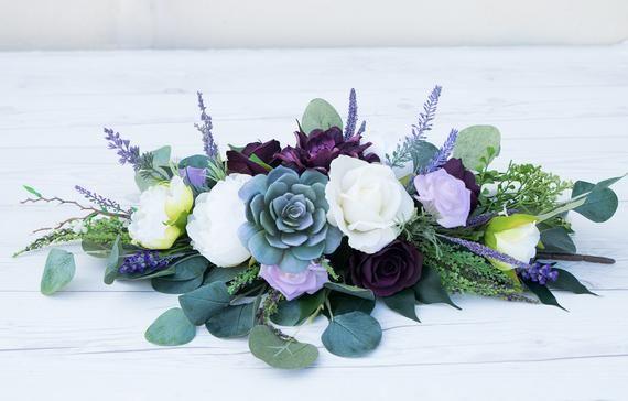 Succulent Swag, Purple Swag, Wedding Arch Swag, Succulent Centerpiece, Wedding Arch, Boho Garland, W