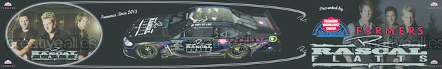 Farmers Insurance Presents: Design A 2013 Rascal Flatts Tour Truck Semi Truck by ernhrtfan on CreativeAllies.com