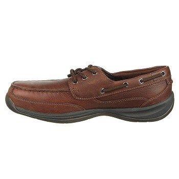 Rockport Works Men's Sailing Club Steel Toe Boat Shoes (Brown) - 13.0 M