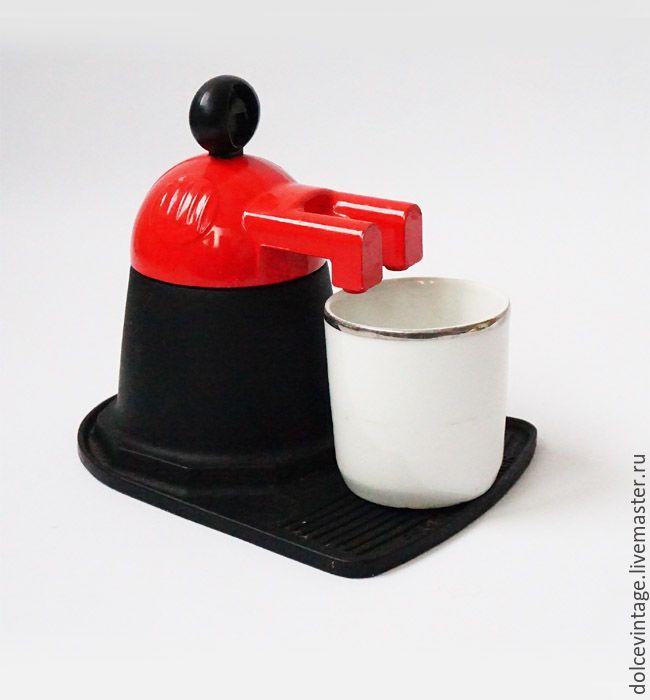 Купить Итальянская винтажная кофеварка эспрессо,гейзерная кофеварка,Италия. - ярко-красный, винтажная кофеварка