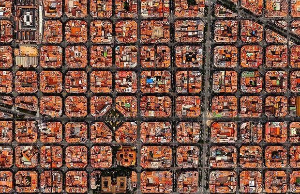 Barcelona, Espanha (Foto: Divulgação/Daily Overview)