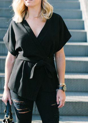 Kup mój przedmiot na #vintedpl http://www.vinted.pl/damska-odziez/bluzki-z-krotkimi-rekawami/13592081-bluzka-kimono-asos-wiazana-xs-minimalizm