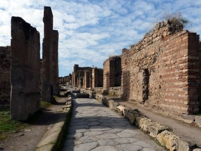 Pompeii has to be one of the most fascinating places I've visited in Europe...  Google it! Read about the city! :e)