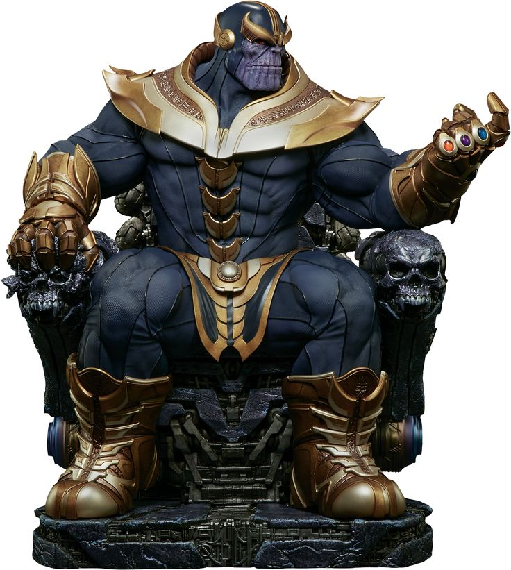 "The Infinity Gauntlet - Thanos on Throne 21 ""Maquette Statue by Sideshow Collectibles 