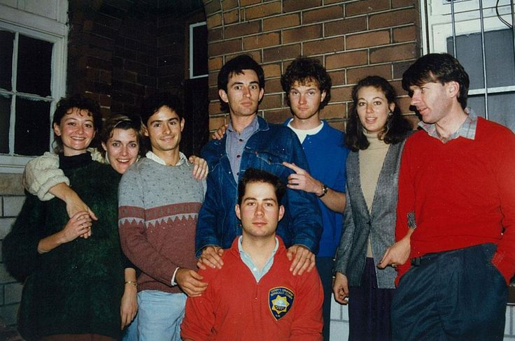 Terence Crawford (AC Arts Head of Acting and regular State Theatre Company actor) shared this photo of NIDA days from his own collection - that's the real Tim Conigrave (front) and John Caleo (third from left with grey maroon jumper) and Terence standing behind Tim! — with Maudie Green and Morna Seres.