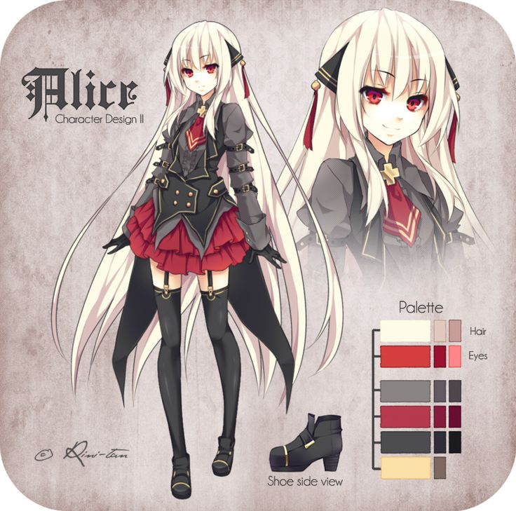 Character Design For Anime : Alice character design ii by rini tan anime pinterest