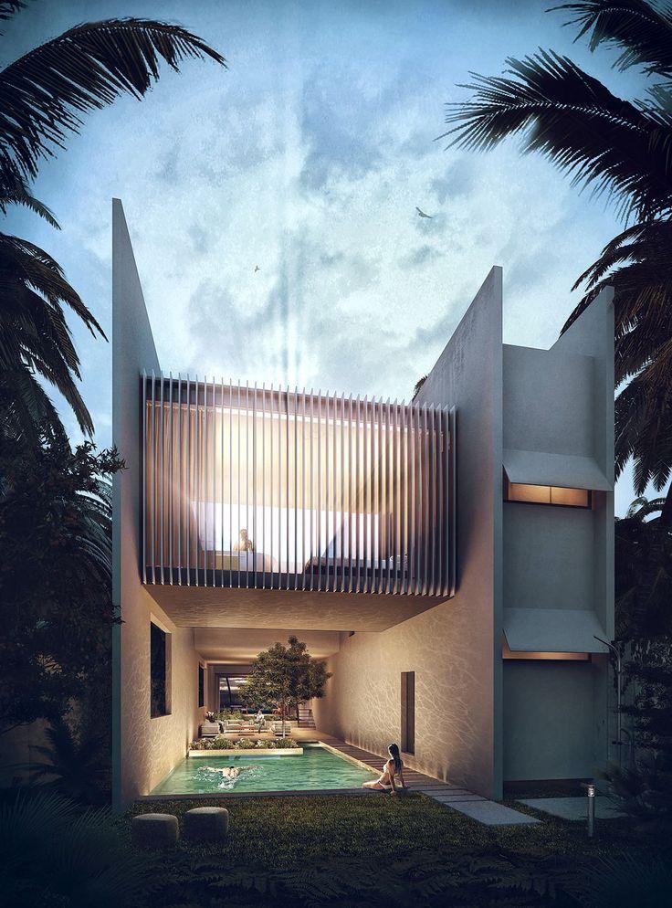 The Cannon House | Domaine Public Architects Visualization - Sérgio Merêces Location: Tulum, Mexico
