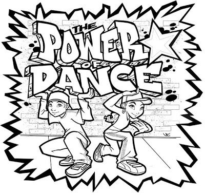 Hip hop dance coloring pages