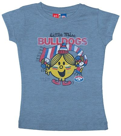2013 Western Bulldogs Little Miss T-Shirt $29.95 Sizes 2 - 14