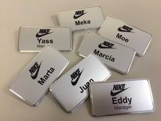 6 reusable chalkboard name tags chalkboard name badges magnet name