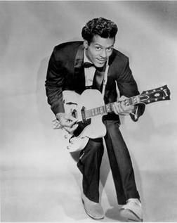 Chuck Berry, inventor of the duck-walk (not to be confused with the duck face,) and grandfather of rock 'n' roll. #chuckberry #guitar #blackandwhite