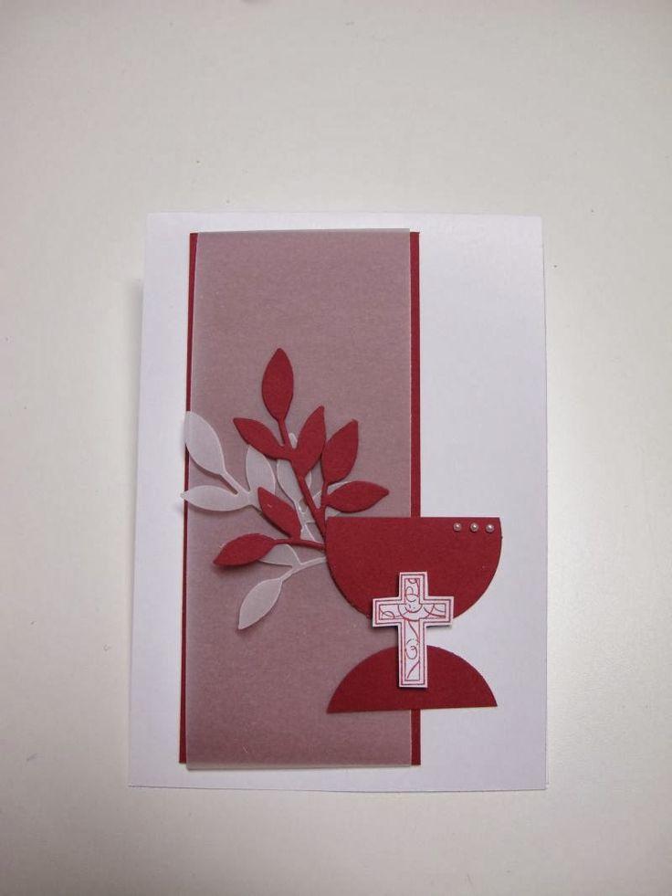Ich will Euch ja nicht nerven, ab ich hab da dann nochmal ne Kommunionkarte für Euch. Ob als Glückwunschkarte oder EInladungskarte, ich find...