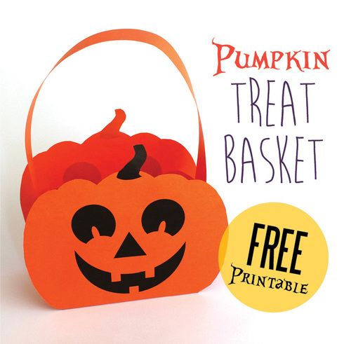 Printable Halloween Pumpkin Baskets - The Craft Train