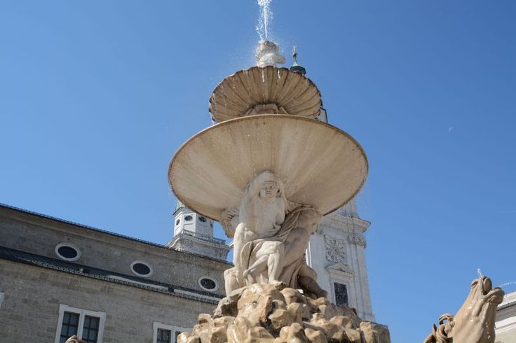 Salzburg, a beautiful fountain