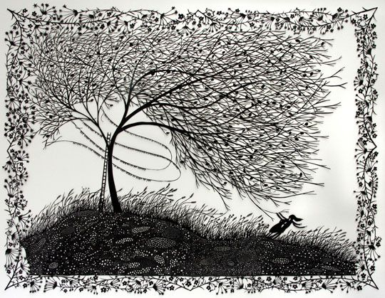 Absolutely stunning piece by Rob Ryan: http://www.ideastap.com/ideasmag/the-knowledge/rob-ryan-interview