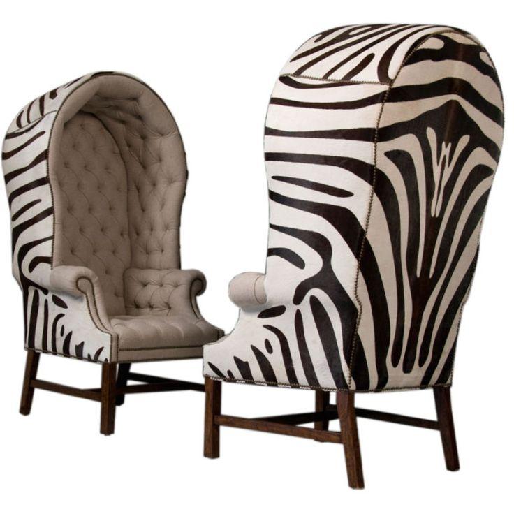 zebra porter's chairs