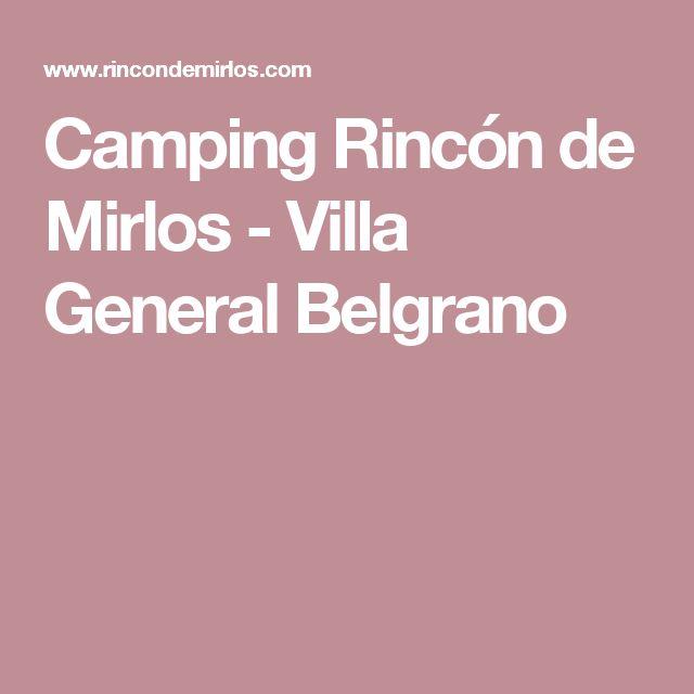 Camping Rincón de Mirlos - Villa General Belgrano