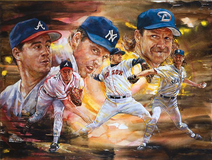The 3 Pitchers'' Greg Maddux Roger Clemens Randy Johnson