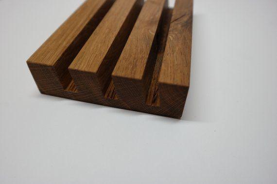 Letter Holder In Oak Wood Solid Card Holder Briefhalter