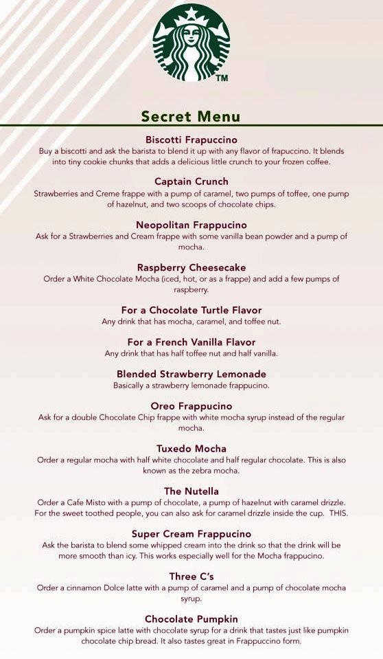 Starbuck's secret menu - CAPTAIN CRUNCH???? Are you kidding me?!?!