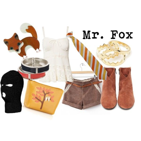 Mr. Fox from Fantastic Mr. Fox by likeghostsinthesnow on Polyvore featuring moda, Denim & Supply by Ralph Lauren, Ash, Bailey & Quinn, Les Néréides, Eddie Borgo, Monsoon, fiction, fictional and animation
