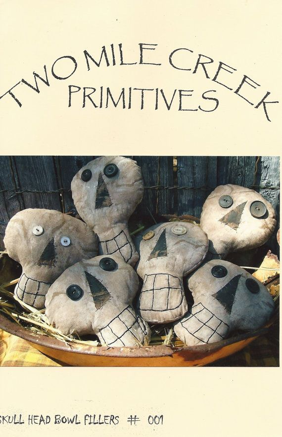 Hey, I found this really awesome Etsy listing at http://www.etsy.com/listing/160211564/primitive-folkart-halloween-skulls