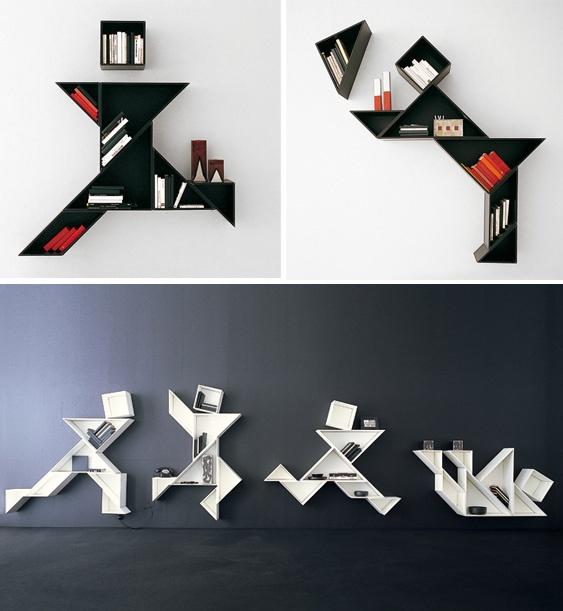 LAGO - tangram bookcase - design by Daniele Lago