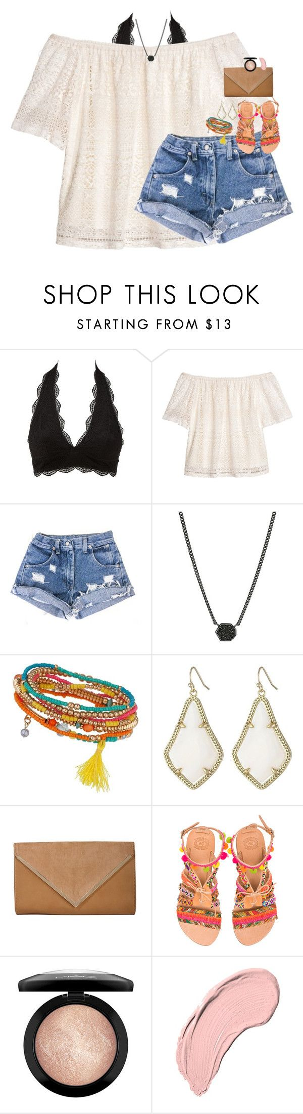 """""""""""You don't love someone for their looks, or their clothes, or for their fancy car, but because they sing a song only you can hear."""""""" by classynsouthern ❤ liked on Polyvore featuring Charlotte Russe, H&M, Kendra Scott, Miss Selfridge, Elina Linardaki, MAC Cosmetics and NYX"""