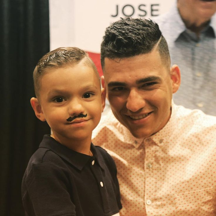 We can't even with this picture of @joseiglesias_ss and his son from #ASG media availability.