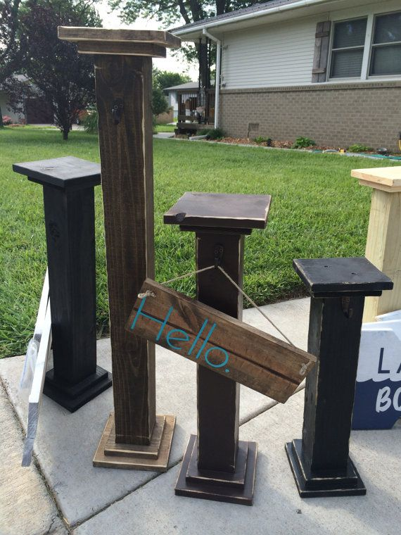 Decorative Welcome Sign Post Deck Decor Front by DipityBySara