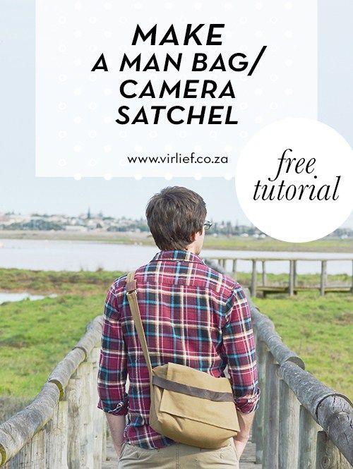 DIY camera stachel / man bag. Tutorial showing you how step-by-step || by the Vir Lief blog