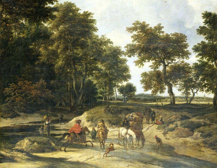 The ford, Jacob Isaacksz. van Ruisdael, 1650 - 1682