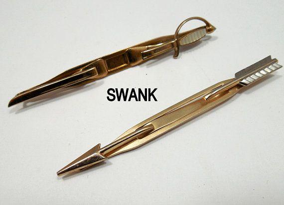 Vintage Swank  Tie Clips