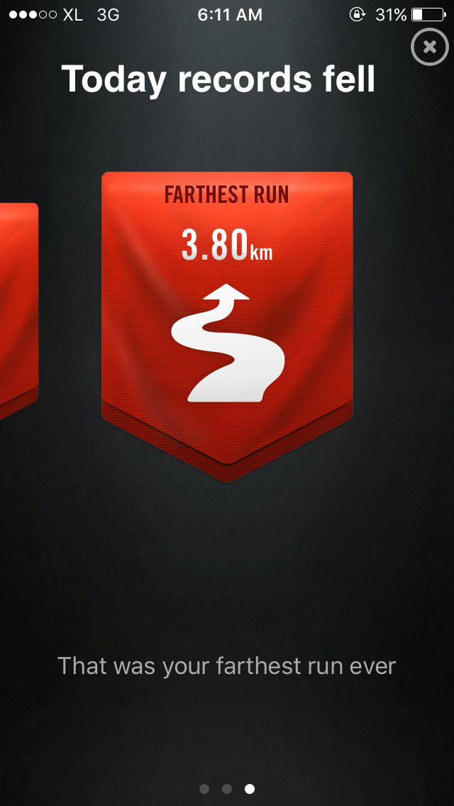 It feels good. I am first-timer run.. and I proud with this frathest run.